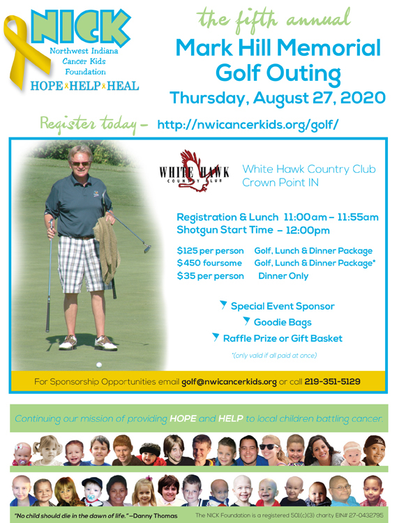 2020 Mark Hill Memorial Golf Outing