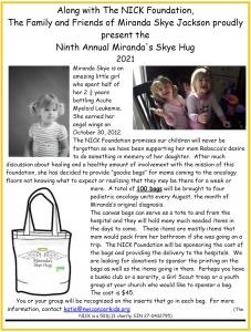 9th Annual Miranda's Skye Hug 2021